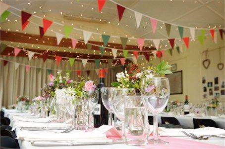 Bunting wedding reception