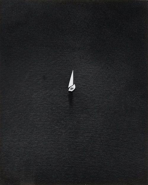 Toni SCHNEIDERS :: Weiß auf Schwarz [white on black], 1965