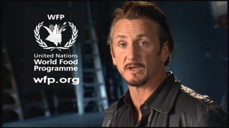 United Nations World Food Programme wfp org Werbung mit Oscar Gewinner Sean Penn 0001