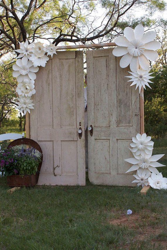 On Sale Paper Flower Paper Ornament Handmade White by balushka