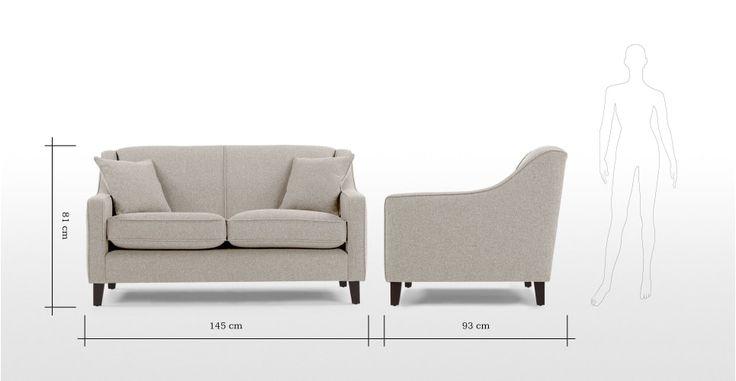 Halston, un canapé deux places, beige tissé | made.com