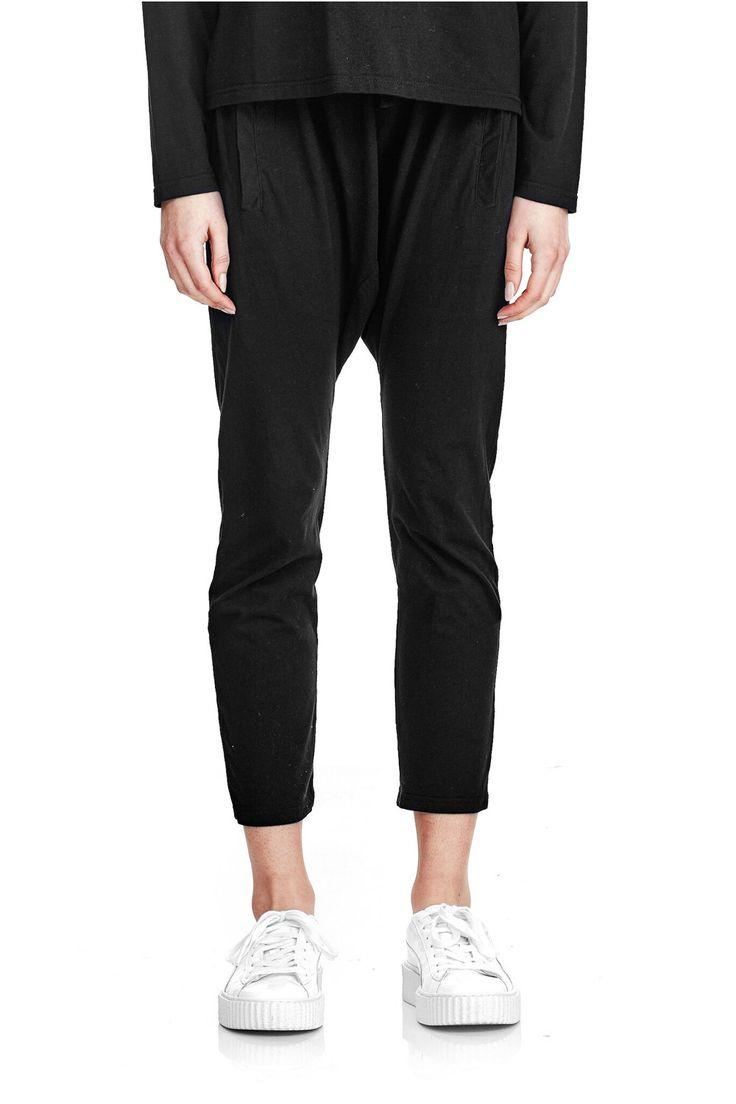commoners - Drop Jersey Pant | Black