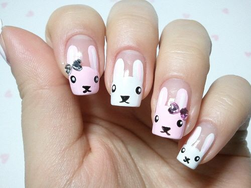 26 best rabbit nail art images on pinterest nail art beautiful click through for tutorial in my korean blog cute rabbit nailart prinsesfo Image collections