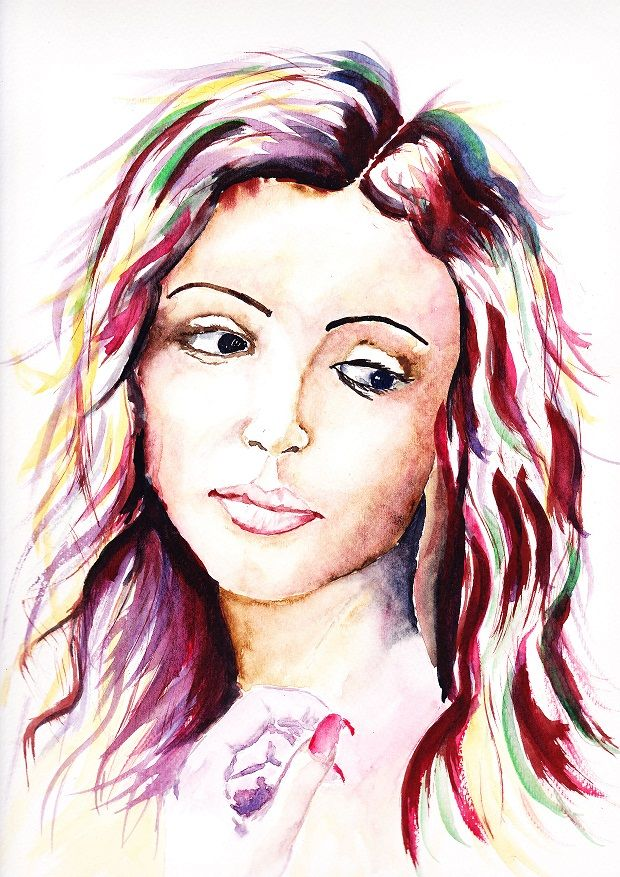My watercolour Painting posted on EBay Item # 121333322834