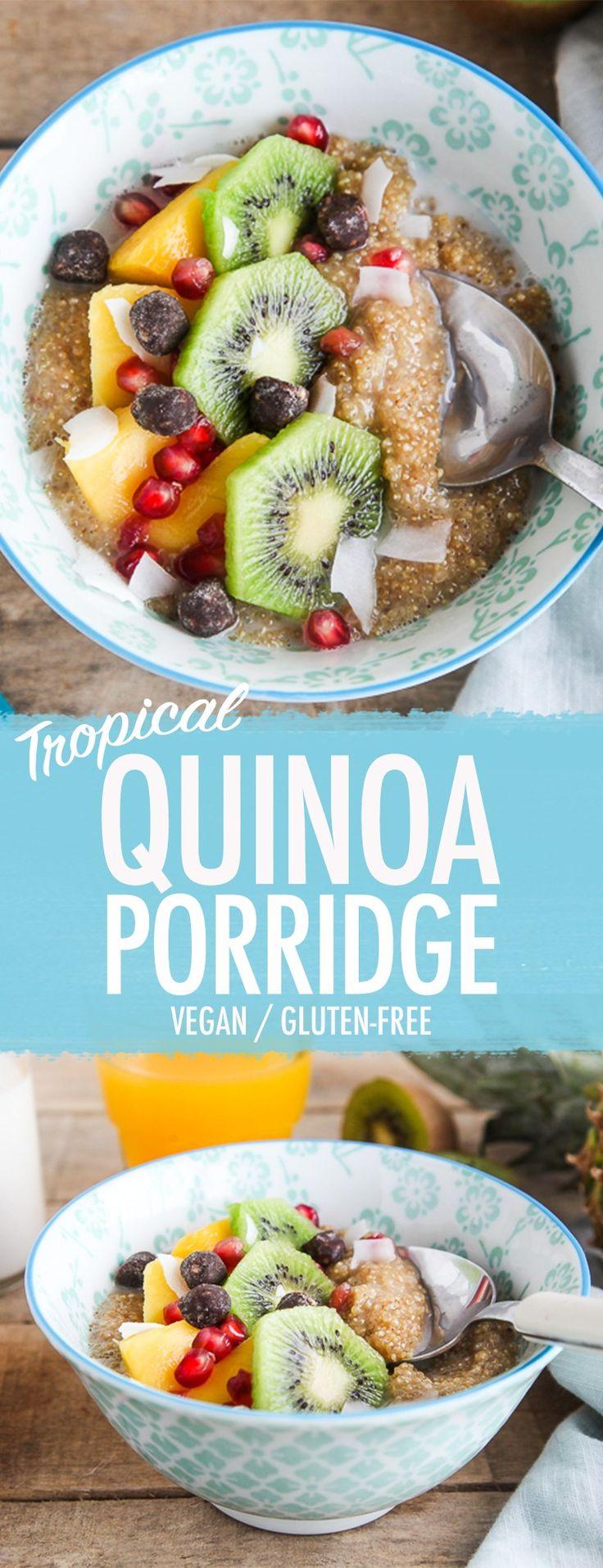 Tropical Quinoa Porridge (vegan, gluten-free)