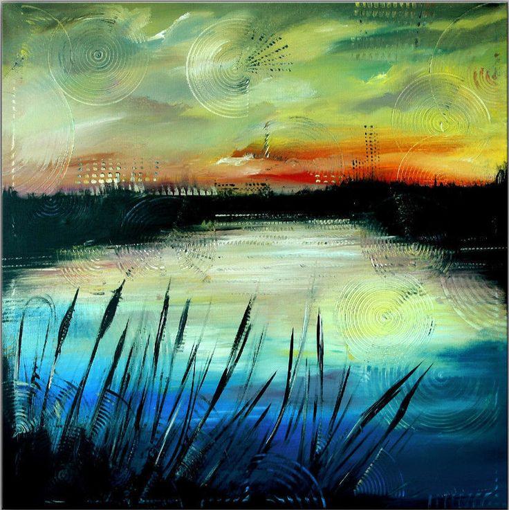 burgstallers landschaftsbild handgemalt original acryl