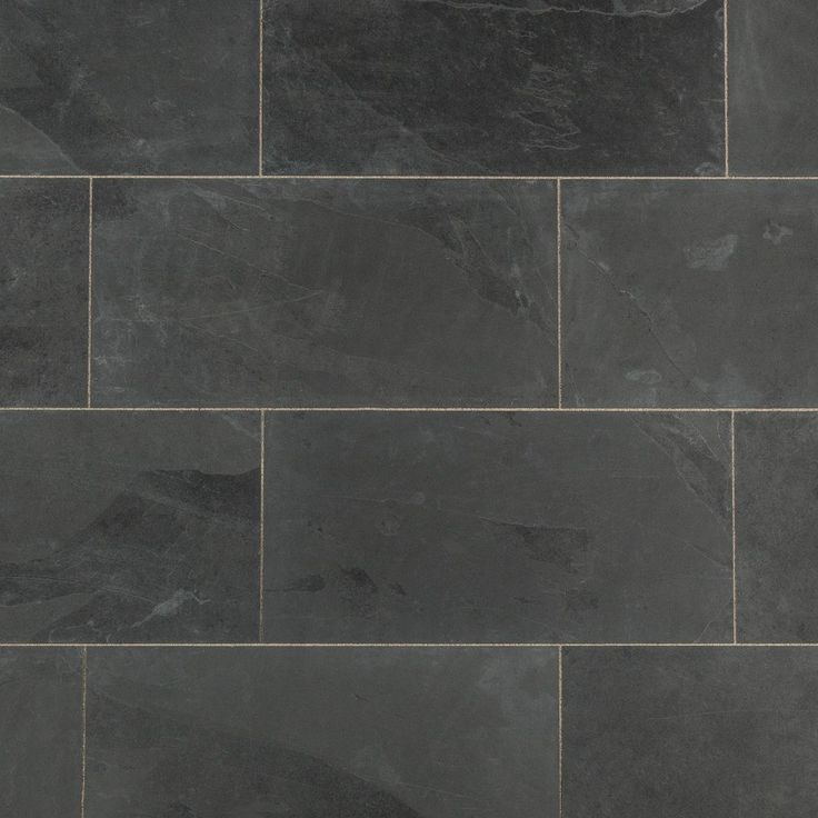 """Slate Tile - Montauk Black 12""""x24"""" Natural-----Maybe for Fireplace instead of stone"""