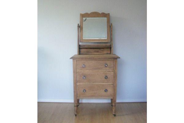 Solid Oak Vintage Dressing Table | Vinterior   #20thcentury #vintage