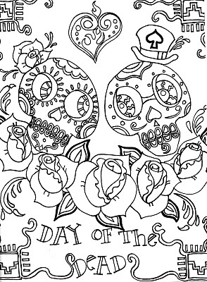 Day of the Dead 10-page lesson plan complete with coloring pages $25