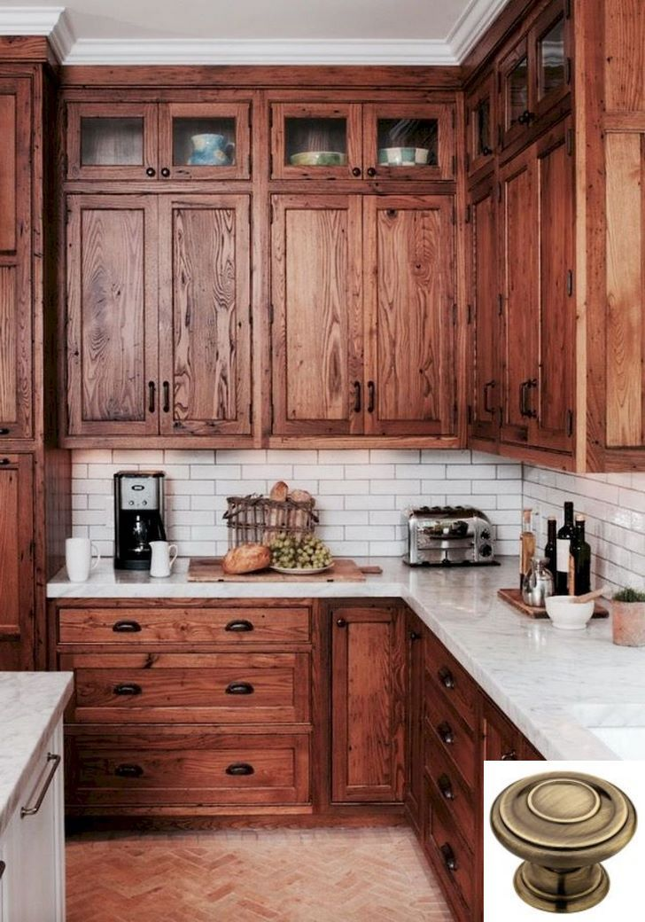 Dark, light, oak, maple, cherry and kitchen