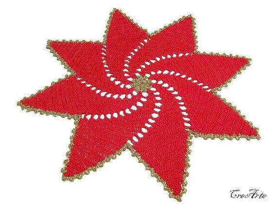 Christmas Doilies Christmas Gift Round Doily by CreArtebyPatty