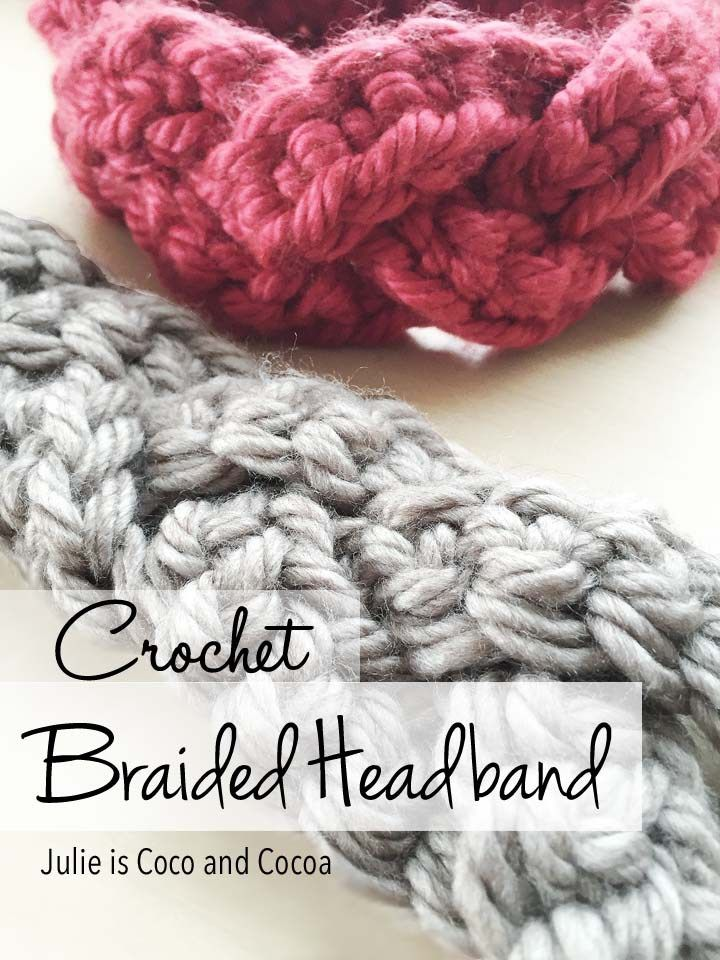 Free Crochet Braided Ear Warmer Pattern : Braided Crochet Headband A well, Free pattern and ...