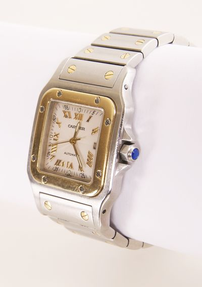 Rare limited edition guilloche dial Cartier Santos Watch #www.wmharold.com