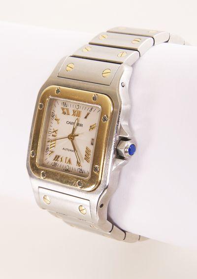 Rare limited edition guilloche dial Cartier Santos Watch #www.wmharold.com