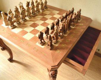 Chess Set Ledovoe Poboishche Battle On The Ice от KiparisDecor