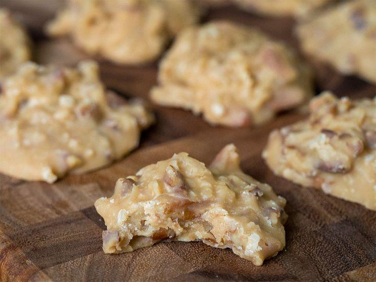 No-Bake Coconut Pecan Praline Cookies