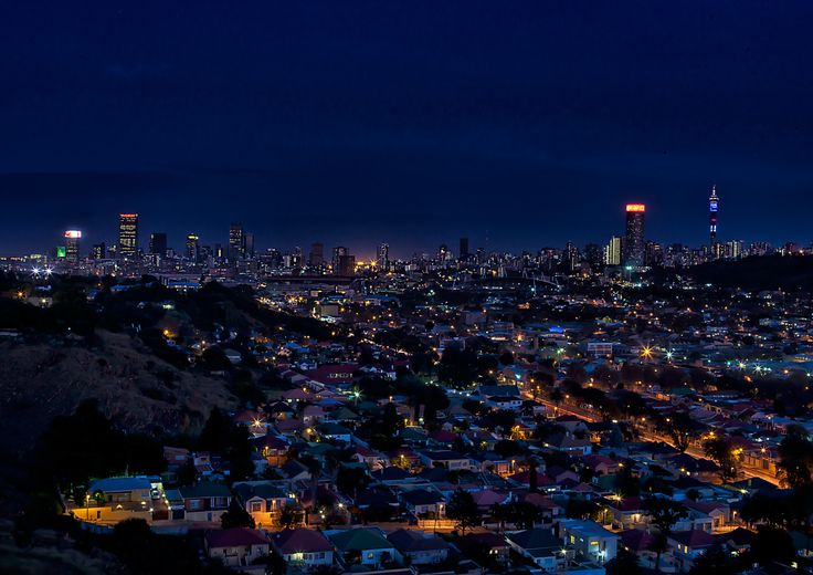 City scape of Johannesburg, South Africa