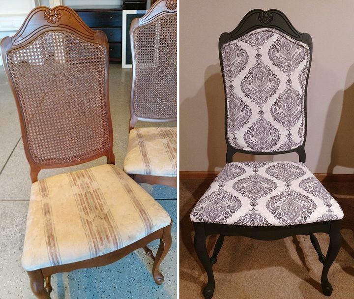 I Told You There Were Lots Of Furniture Makeovers On The Way Here S Another One Remember This Pair Upholstered Chairs Upholstered Furniture Chair Upholstery
