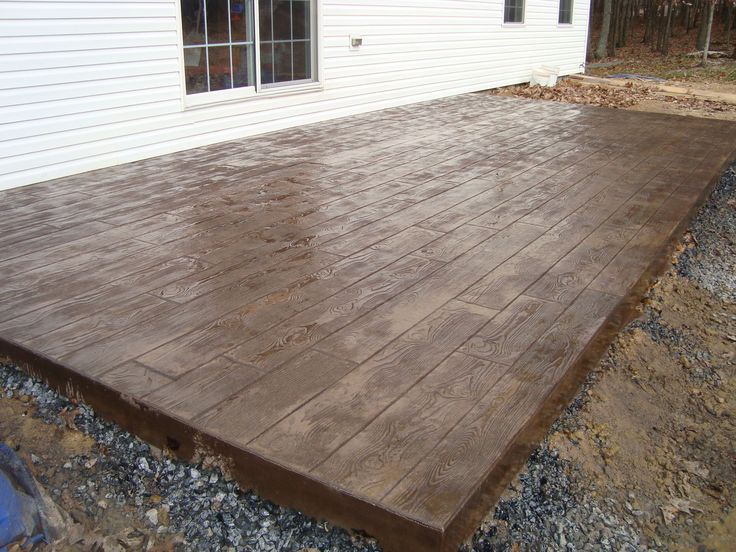 find this pin and more on cabin ideasporch patio idea stamped concrete - Stamped Concrete Design Ideas