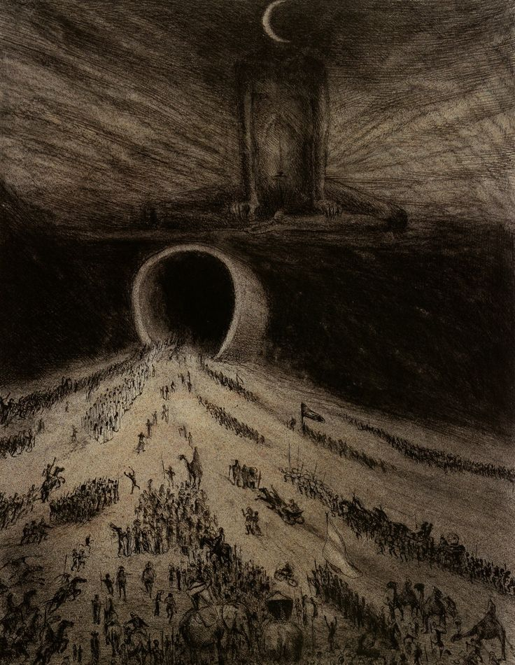 Alfred Kubin, The Way to Hell, 1904
