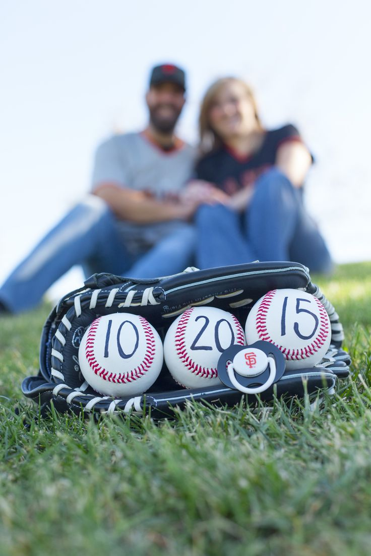 Baseball themed pregnancy reveal. SF Giants pregnancy announcement