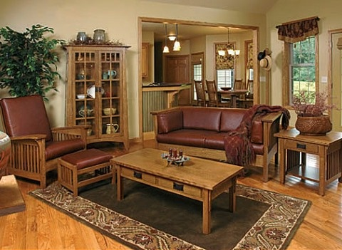 17 best images about mission style living room on pinterest mission furniture arts crafts for Craftsman style living room furniture