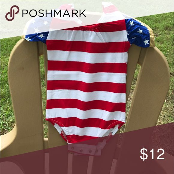 NEW America Wonder Woman Onesie 3 month Brand new. From my business. We are a military family moving in two weeks,so I'm doing a major reduction in inventory! Smoke free home. I bundle! The more you buy, the cheaper I'll go! One Pieces Bodysuits