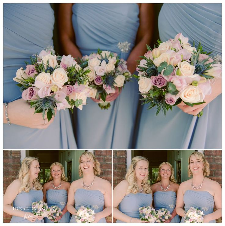 Basing House Wedding Photographer: Roses, thistles and summer colours - Lilac and cream