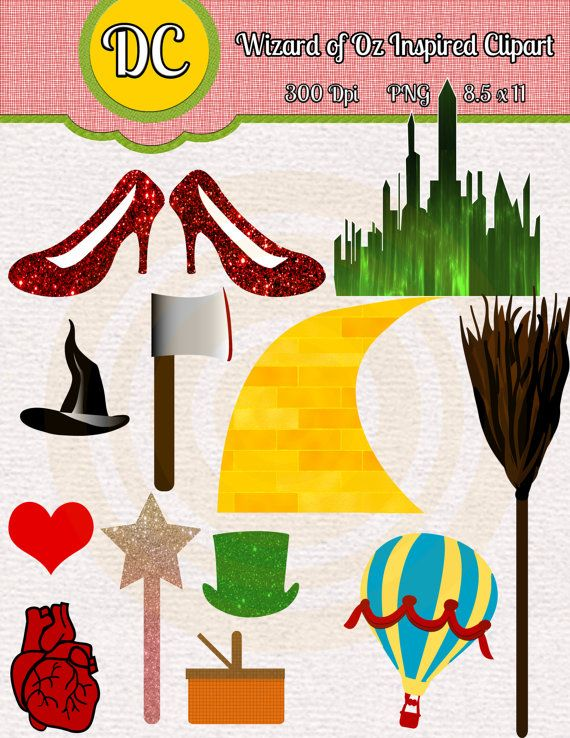 Wizard of Oz Instant Download Inspired by DigitalConfectionery, $2.99