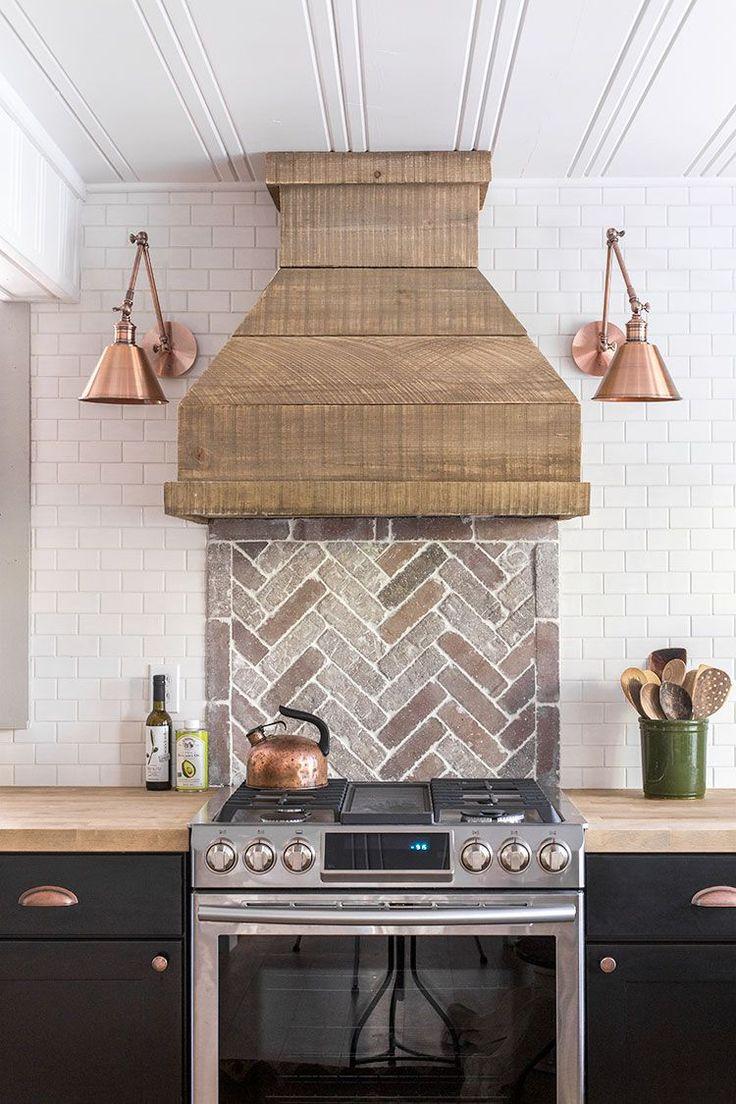 2166 best kitchen backsplash countertops images on for Farm style kitchen backsplash