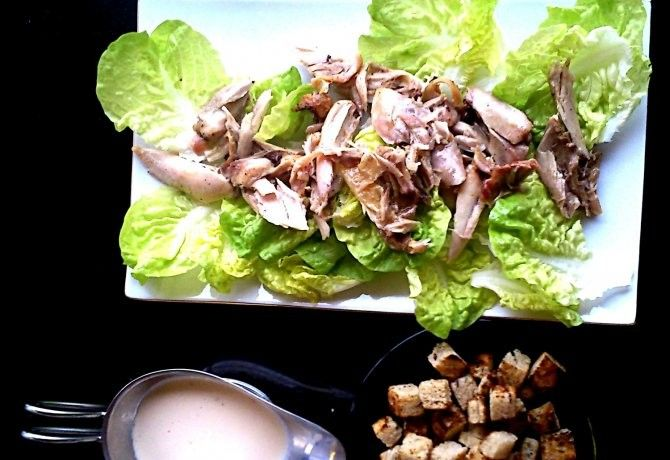 Cézár saláta joghurtos öntettel recept képpel. Hozzávalók és az elkészítés részletes leírása. A cézár saláta joghurtos öntettel elkészítési ideje: 60 perc