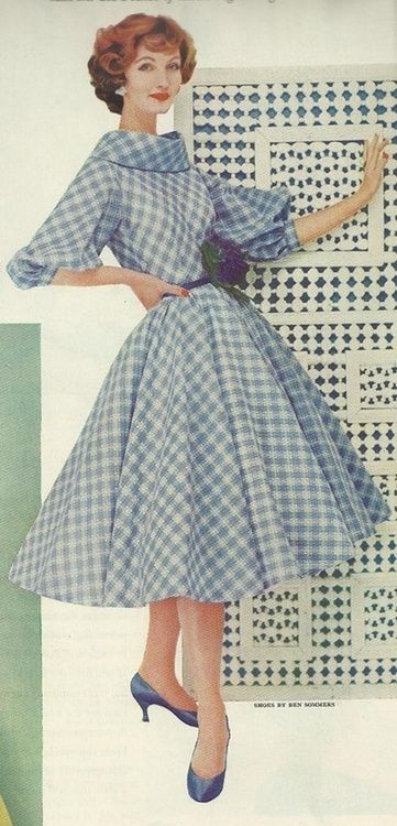 More maidly inspiration with this 1958 dress. This retro dress style is both…