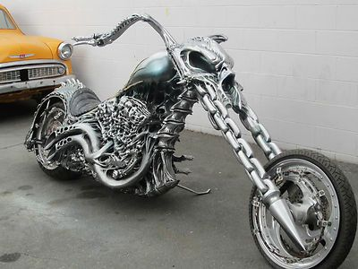 "Custom built Hardtail Chopper ""Hell Cycle"" from 2007's movie Ghost Rider."
