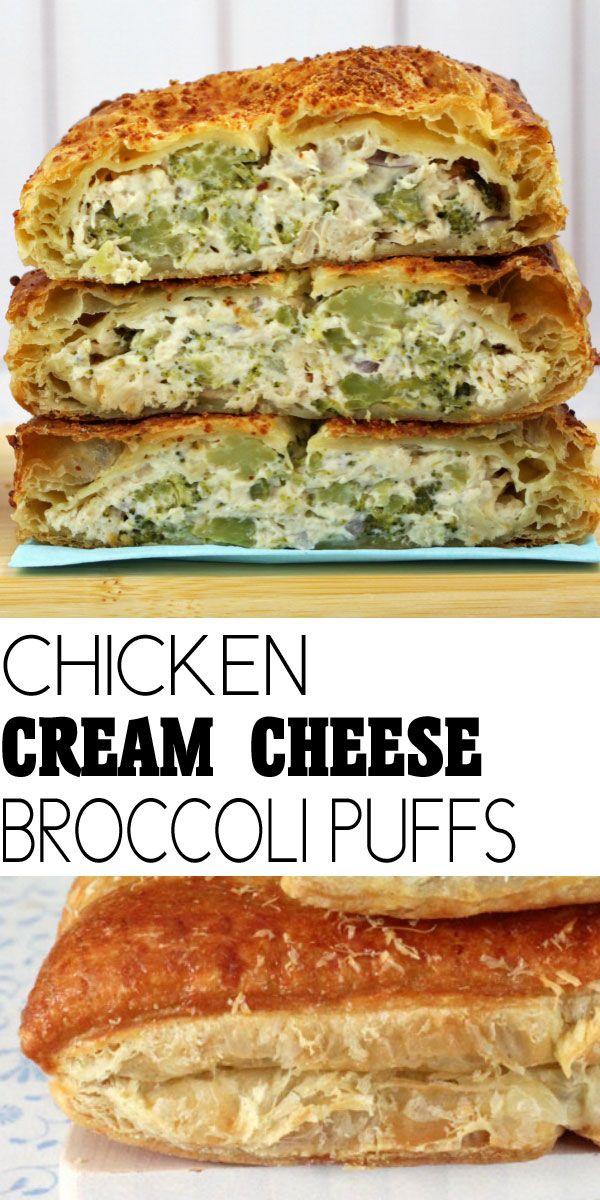 Chicken Cream Cheese Broccoli Puffs