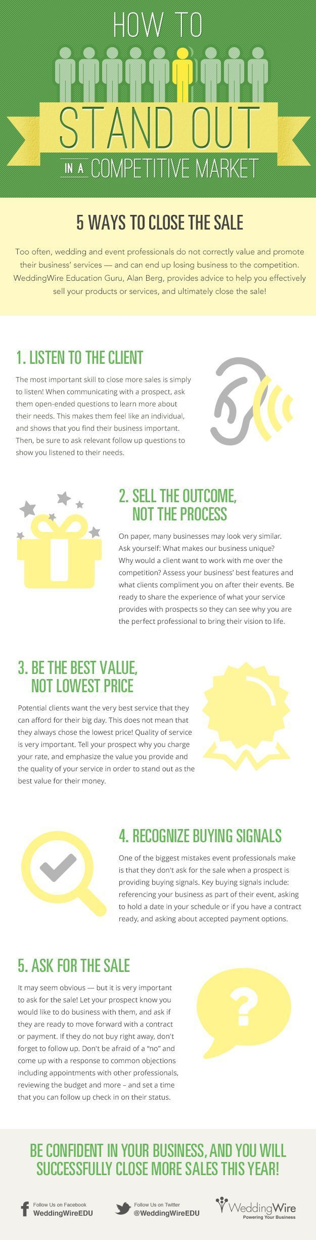 5 Simple Ways To Close The #Sale #infographic