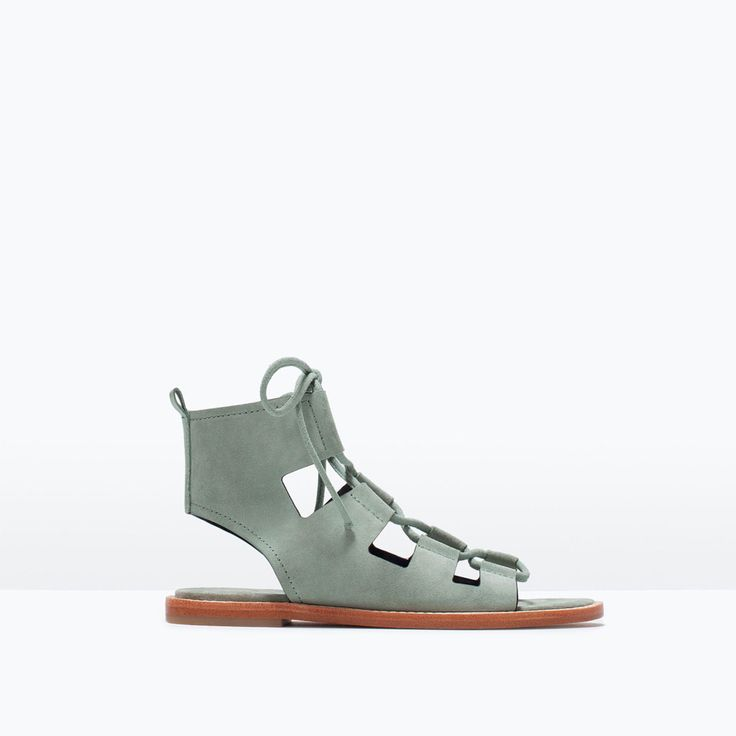 Image 1 of LEATHER ROMAN SANDAL from Zara
