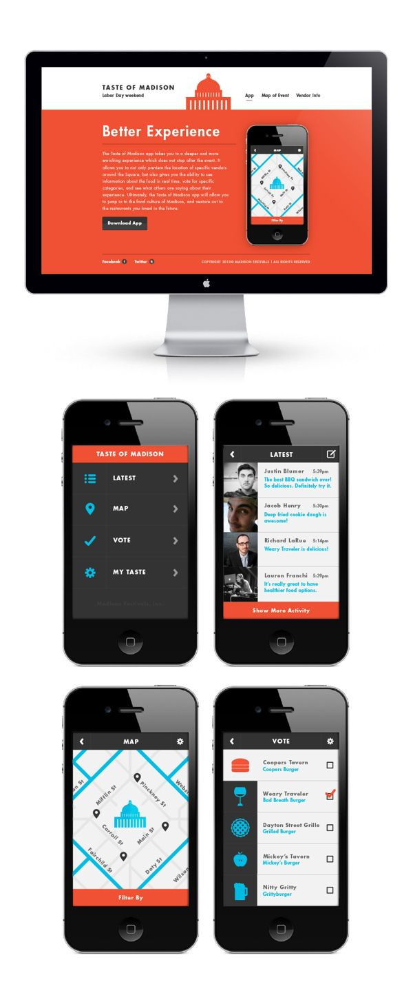UI Exploration by Justin Blumer, via Behance