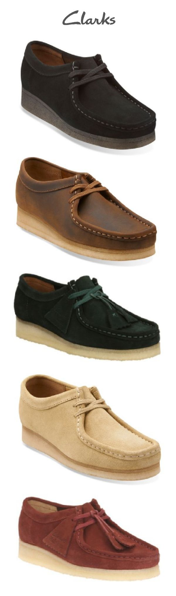 The Wallabee has become an iconic classic in the Clarks Originals® Collection and for good reason! The comfortable fall shoe is a structured take on a cozy moccasin and features clean and simple lines in a variety of suede and leather finishes. Choose your favorite version of this lace-up classic shoe and add it to your fall wardrobe wish list!