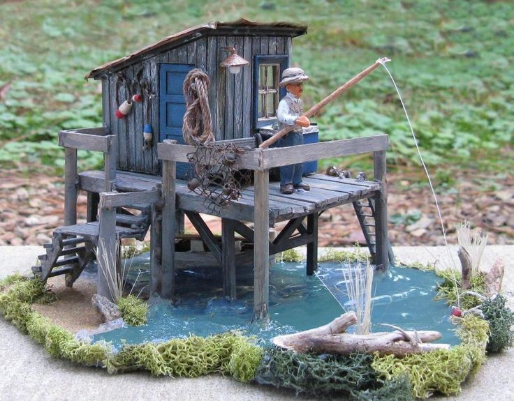 Model Train Building ~ Fishing Shack