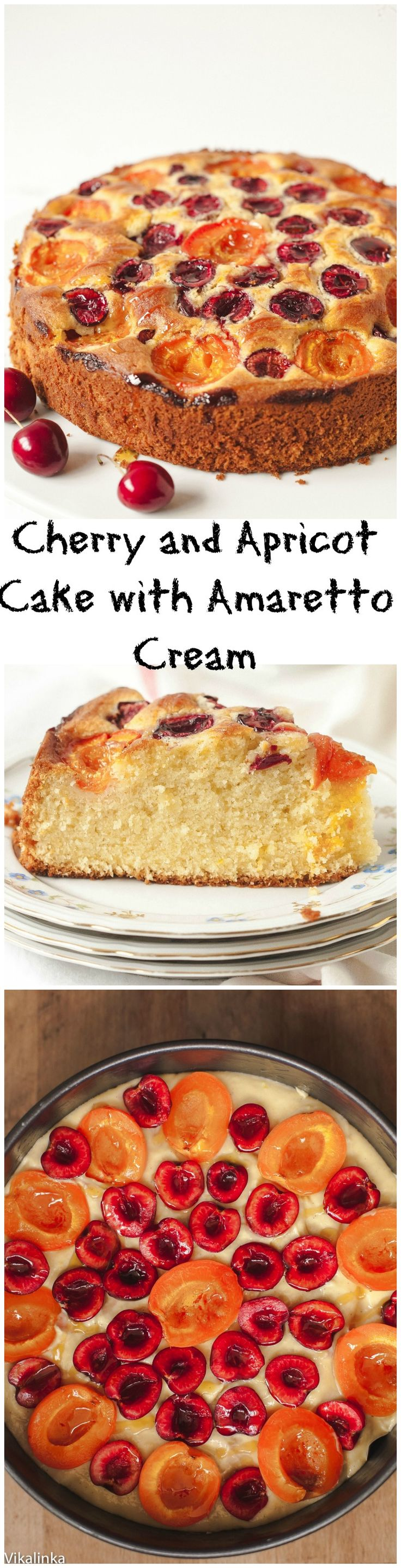 This cake is light, buttery rich and pillowy soft and the flavour, which comes from ground almonds, fresh lemon zest and pure vanilla, is just delightful. Throw a handful of cherries and apricots on top, drizzle with honey and you've got yourself a jewel studded beauty!