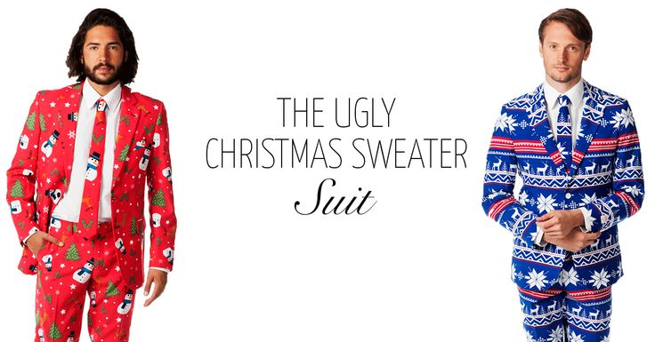 I admit to being burned out on the whole ugly Christmas sweater phenomenon but as suits they're amazing! #ootd