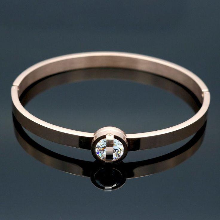 Glisten Crystal Bracelet Jewelry Trendy Women Bracelets & Bangles Lover Cuff Bangle For Female Wedding Jewelry Gift