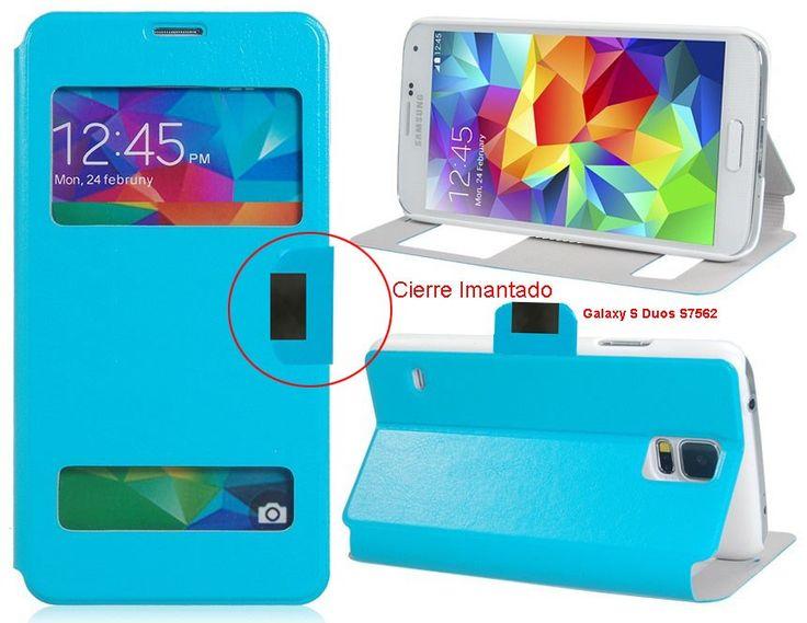 Funda Flip Cover Tipo Libro Con Ventana Para Telefono Samsung Galaxy S Duos S7562 - http://complementoideal.com/producto/funda-tipo-libro-con-doble-ventana-para-samsung-galaxy-s-duos-s7562/  - Con la Funda Tipo Libro Con Doble Ventana Para Samsung Galaxy S Duos S7562 tendrás una protección total del tu teléfono móvil, ya que protege tanto delante como la parte de atrás de esta forma tendrás protección 100% del dispositivo. Diseñada exclusivamente para Samsung Galaxy S