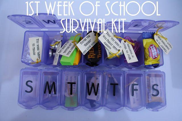 Teacher Survival Kit - cute idea to give to a fellow teacher or your child's teacher ❤