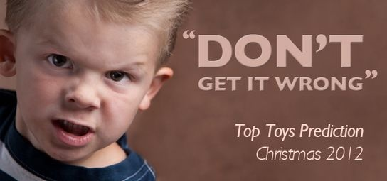 Top Toys for Christmas 2012