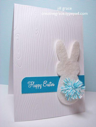 Bunny Pom Pom Tail Card from Baker's Twine