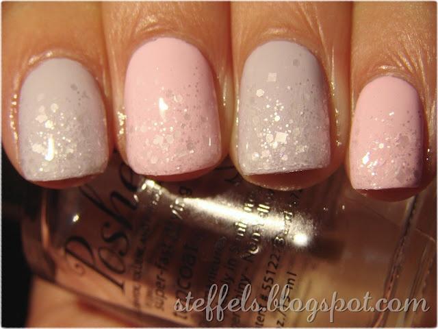 Lynnderella Snow, Makeup Tools, Wedding Nails, China Glaze, Pastel Pink, Snow Angels, Nails Hair Beautiful, Angels Gradient, Lights Nails With Glitter