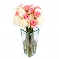 12 Pink & White Roses Jakarta Florist https://lilysfloristjakarta.com #Jakartaflorist