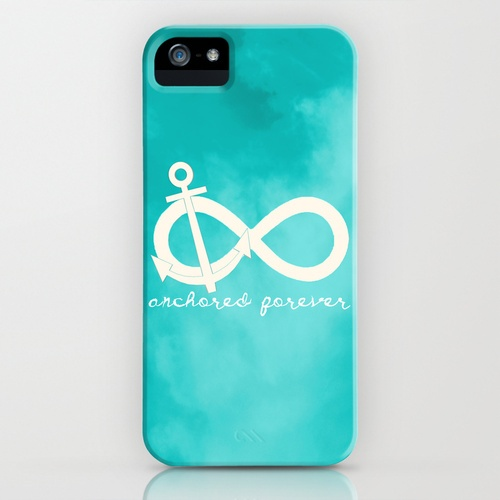 Anchored Forever Blue iPhone Case