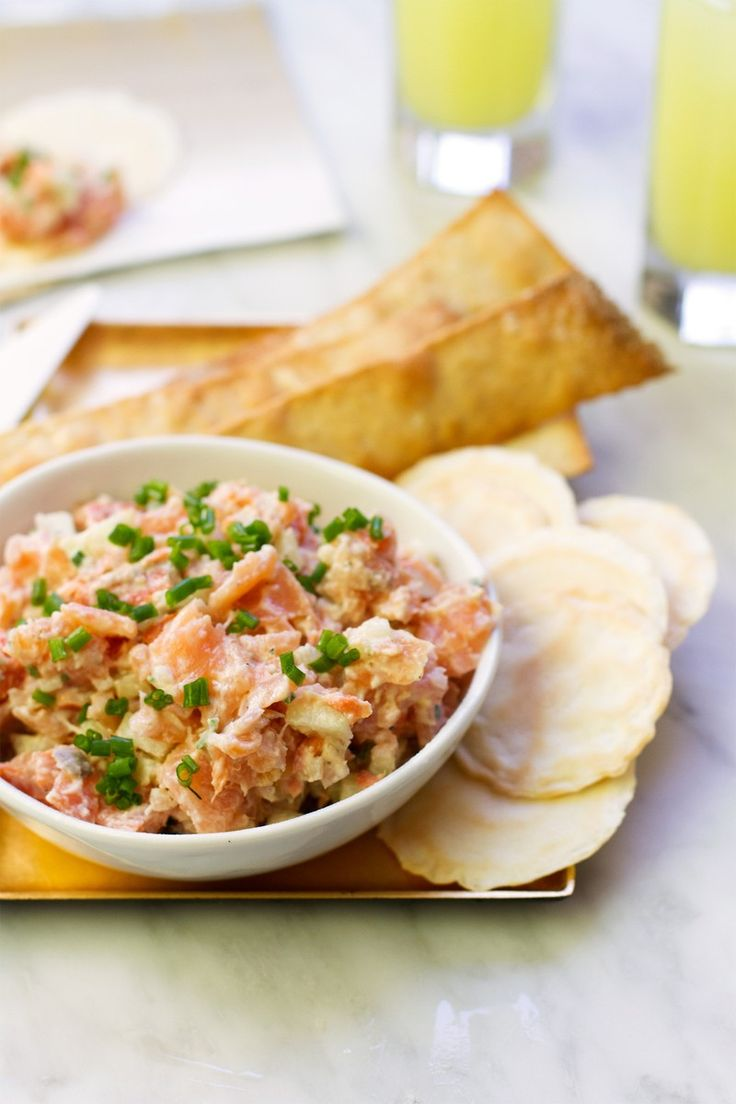 {Salmon Rillettes} Smoked Salmon and Herbed Creme Fraiche Spread | http://saltandwind.com